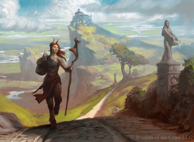 MtG Art Voyaging Satyr from Theros Set by Tyler Jacobson