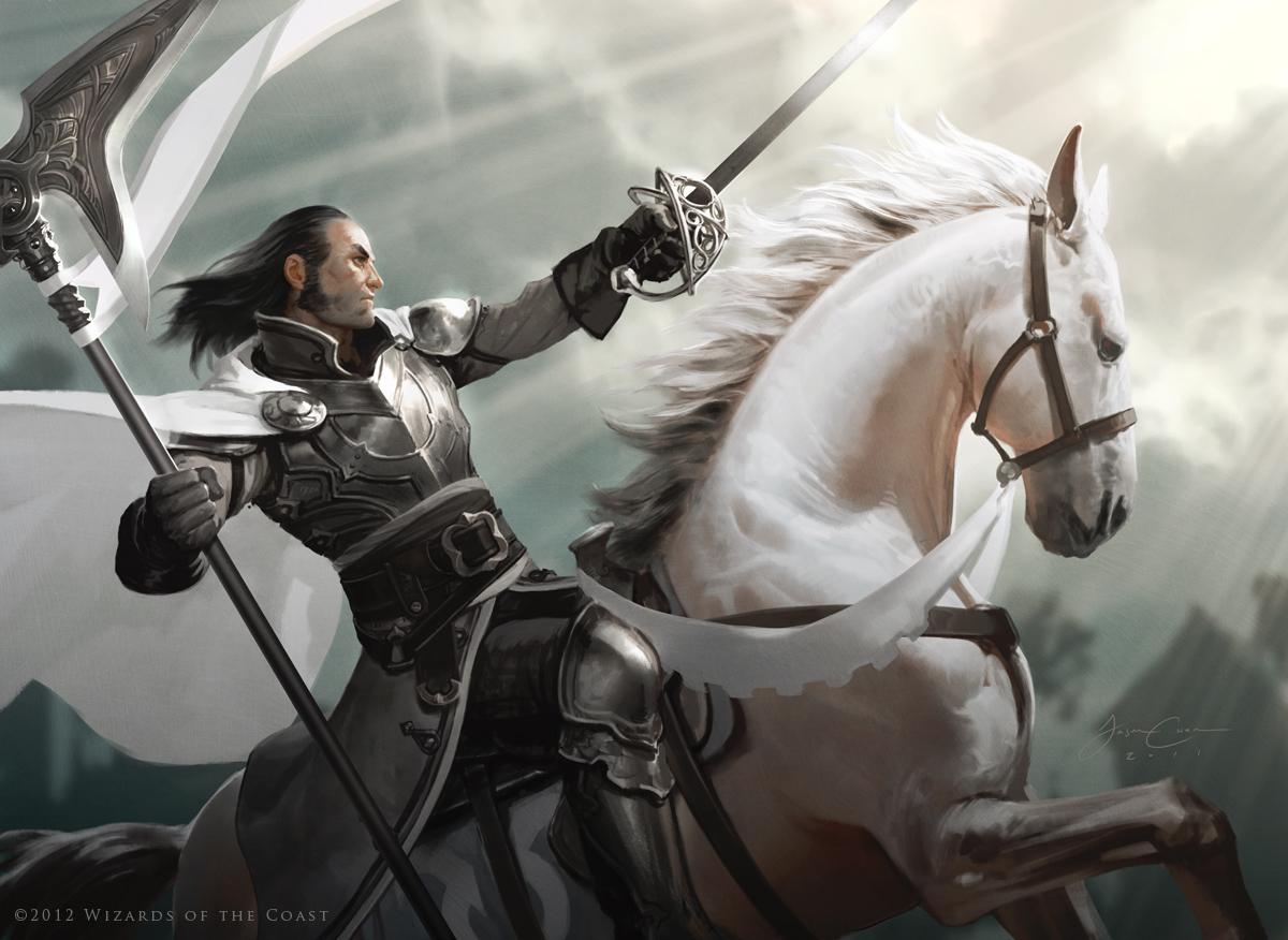Silverblade Paladin - MtG Art
