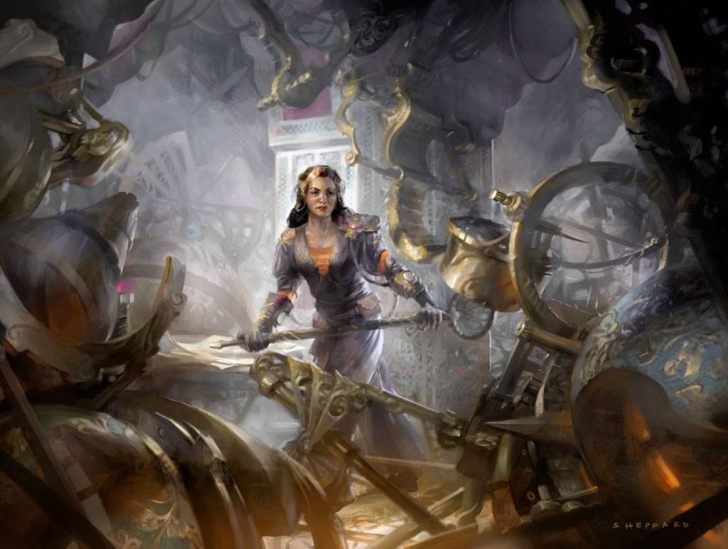 Wallpaper Pc Girl Dark Elf Mtg Art Reclusive Artificer From Magic Origins Set By