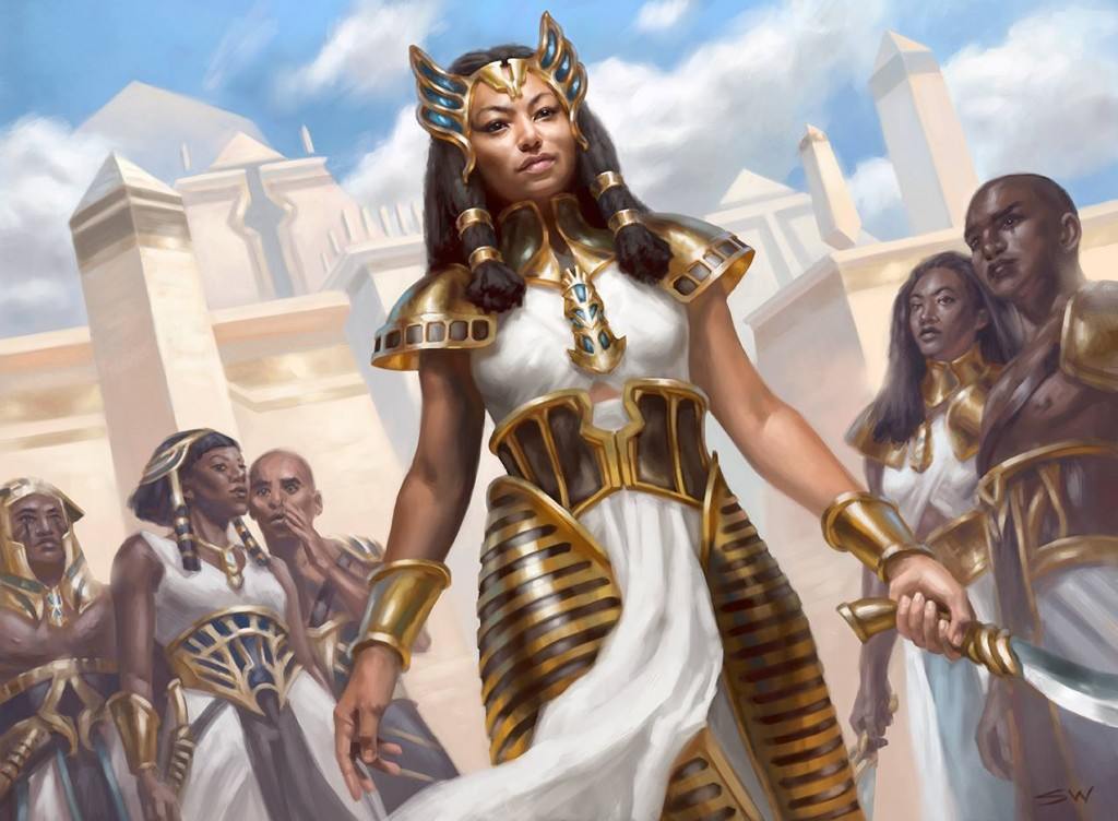 Boy Beating Girl Wallpaper Mtg Art Honored Crop Captain From Amonkhet Set By Sara