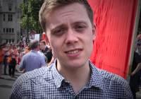 """Owen Jones """"Support 10 July Strike"""" (2014)"""