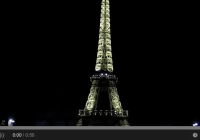 Eiffel Tower's Lights Turned Off To Pay Respect To Charlie Hebdo Victims (Jan 2015)