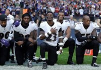 NFL players #takeaknee to protest Donald Trump's comments (Sept 2017)