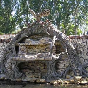 Бетонный забор Совиное гнездо