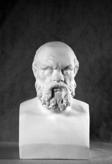 bust socrates stone