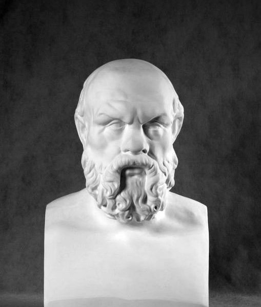 Гипсовый бюст Сократ