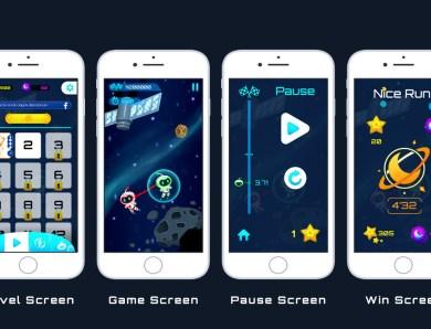 Galaxy line: Nouveau projet sur mon portfolio