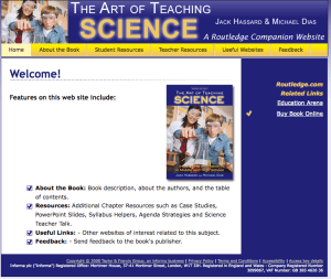 The Art of Teaching Science Companion website