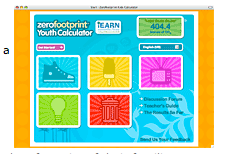 Follow the link to the YouthCalculator to measure and reduce your cabon footprint.  You'll also find a link to an adult calculator.