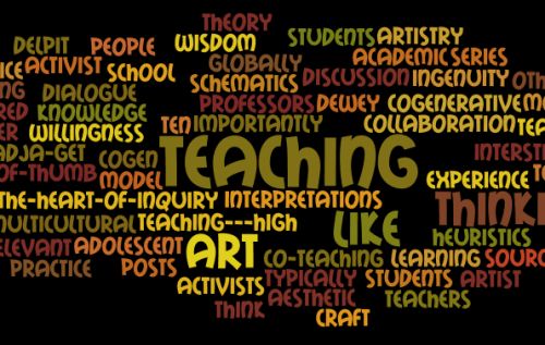 Figure 1. Wordle of ideas that will be explored in the blog series, Artistry in Teaching.