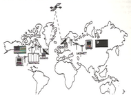 The GTP Telecommunications Network linking schools in the USA and the Soviet Union, c. 1991