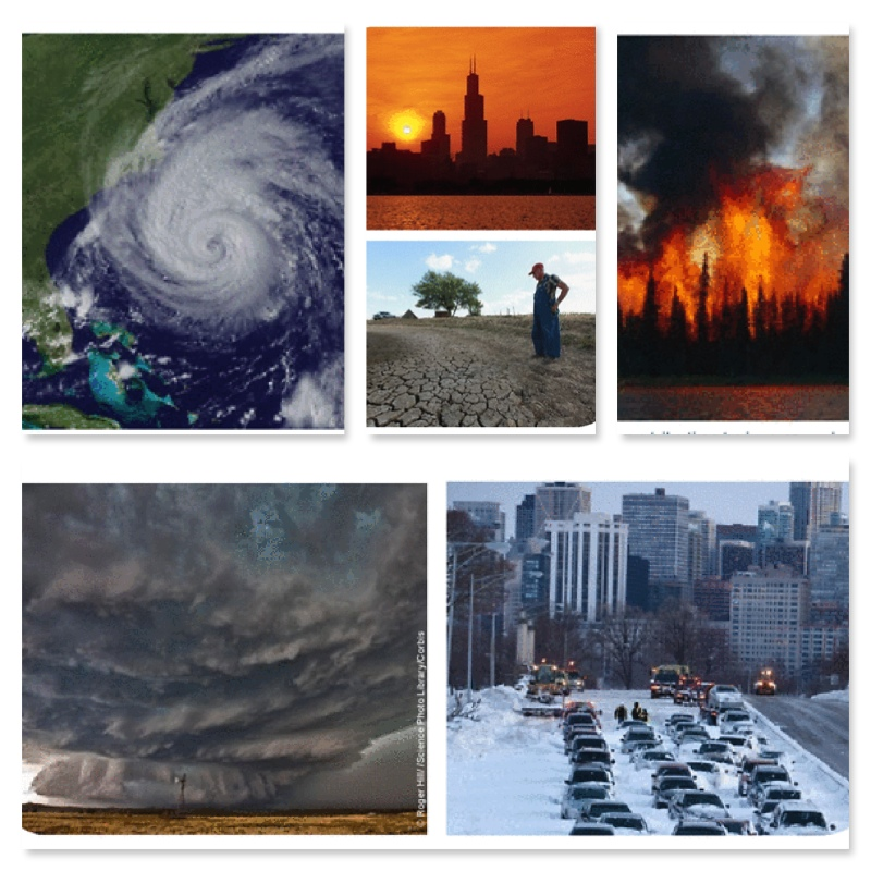 Figure 2. Extreme earth events in the U.S. Source: Melillo, Jerry M., Terese (T.C.) Richmond, and Gary W. Yohe, Eds., 2014: Climate Change Impacts in the United States: The Third National Climate Assessment. U.S. Global Change Research Program, 841 pp. doi:10.7930/J0Z31WJ2.