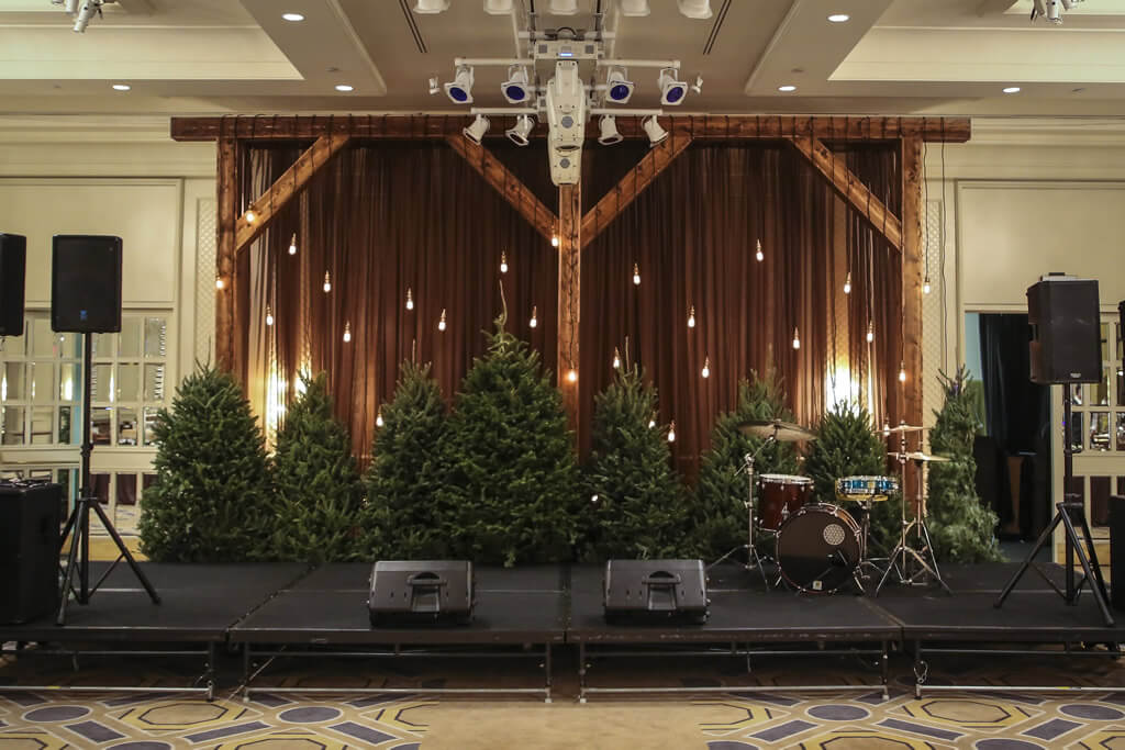 Rustic Lodge Holiday Party Four Seasons Hotel Boston