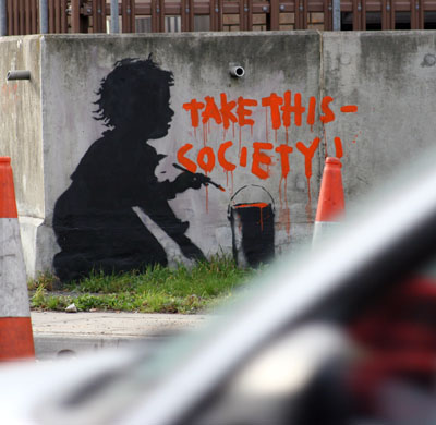 Banksy, Take This - Society!