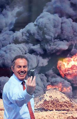 Tony Blair in Iraq, by Peter Kennard