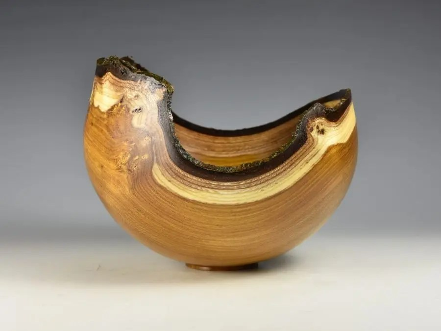 Natural Edge Laburnum Bowl