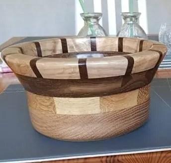 Oak and Walnut Segmented Bowls