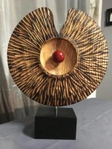 Platter wood turned art