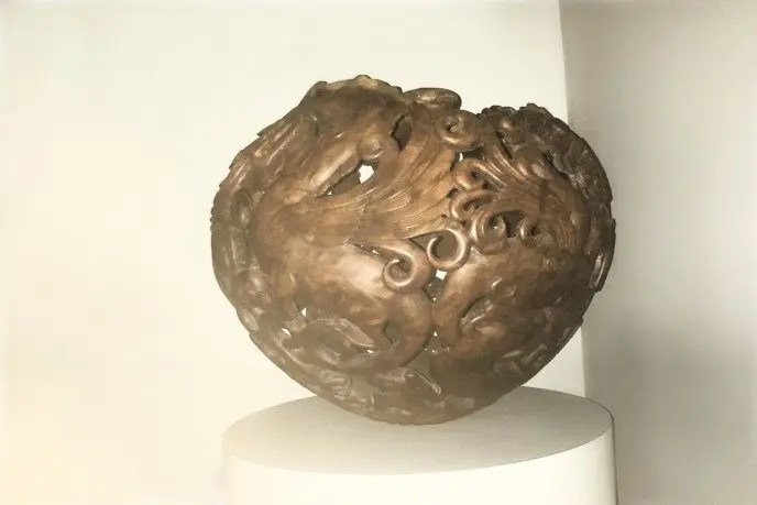 Wood Turned Carved Hollow Form