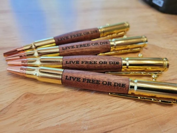 Live Free or Die New Hampshire Motto Pens