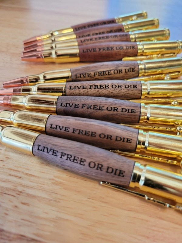 Live Free or Die New Hampshire Engraved Pens