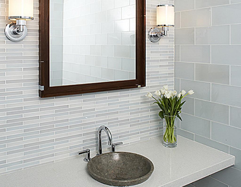 Ideas Tile On Bathroom Small Tiles Small Tiles As An Accent On