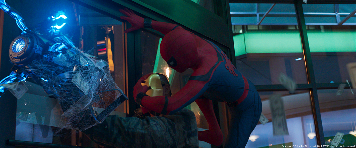 Image result for spider man homecoming bank robbery