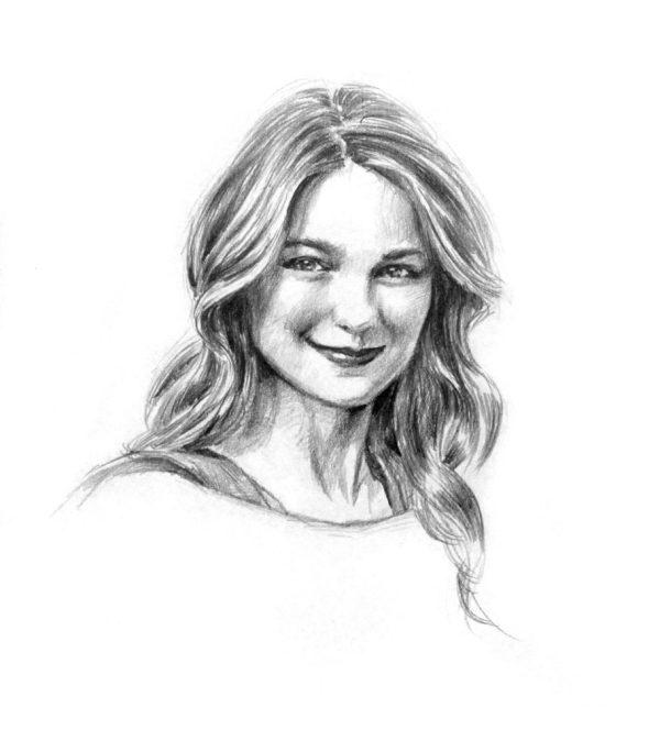 Melissa Benoist Supergirl Drawings