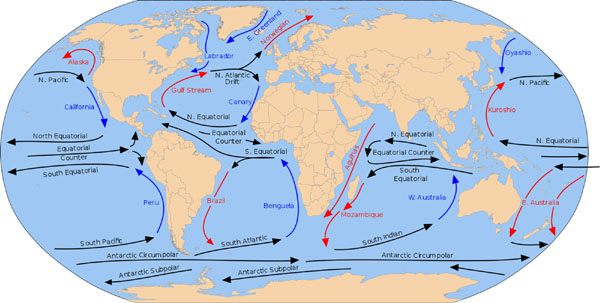 Figure 14 Ocean Currents on Earth