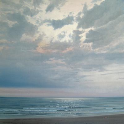 Dick van Belle  122zee lucht en strand schilderijen