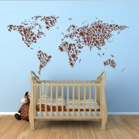 Map Of The World Wall Decals - By Artollo