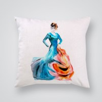 Throw Pillow Cover Spanish Woman - By Artollo
