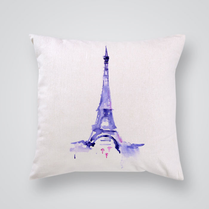 Throw Pillow Cover The Eiffel Tower  By Artollo