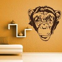 Vinyl Wall Decal Monkey Head - By Artollo