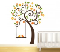 Birds And Tree Wall Stickers For Kids - By Artollo