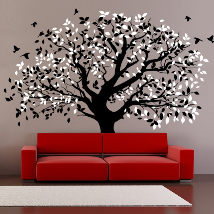 navy blue and chocolate brown living room furniture sears canada wall decals big tree - by artollo