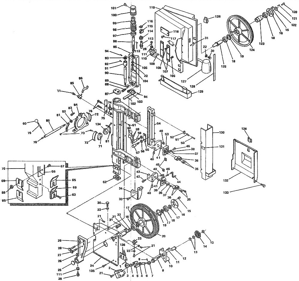 Milwaukee Band Saw Parts Diagram