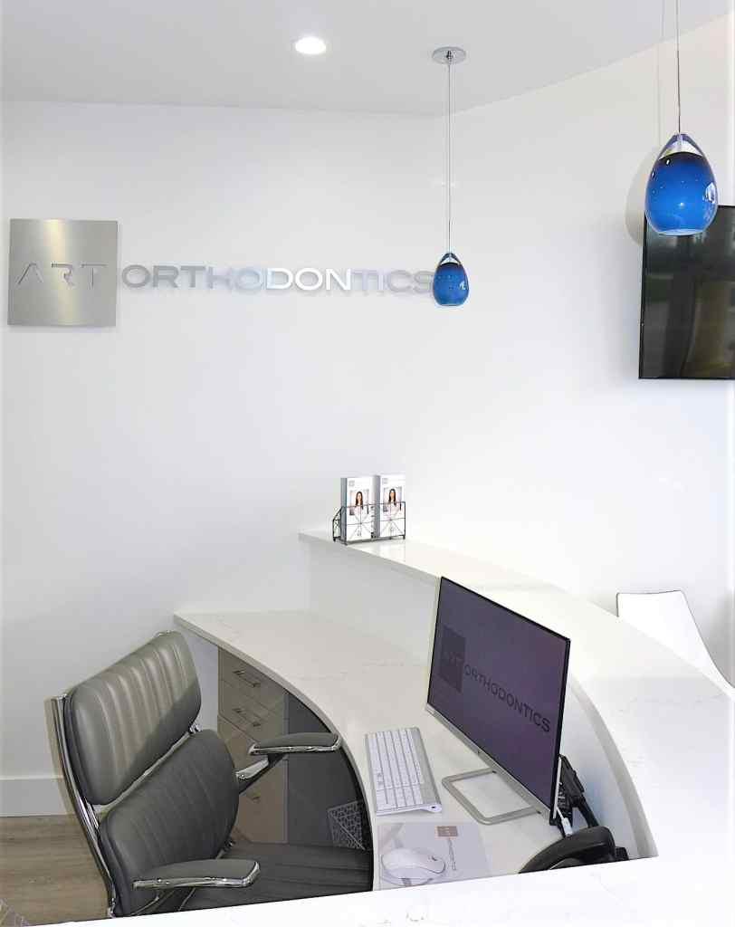 Front Desk of ART Orthodontics Dr Shiva Khatami Orthodontist