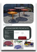 Picknikbord PICNICULYS ARTOTEC lekskulpturer och park/urbana möbler med KONST & TEKNIK