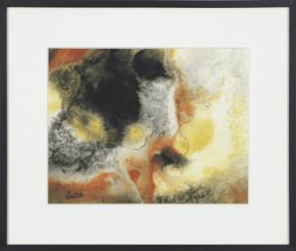 [Clin d'art #176] «Fracturation 4». 2015. Hélène Routhier. Encre et acrylique. 44.5 x 52 cm 12 $ par mois pour un particulier (taxes incluses). © L'Artothèque. Tous droits réservés.