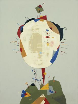 [Clin d'art #163] «Lady and Gentleman in Primary Colours 2». 2015. Anait Abramian. Acrylique sur toile. 102 x 76 cm. 26 $ par mois pour un particulier (taxes incluses). © L'Artothèque. Tous droits réservés.
