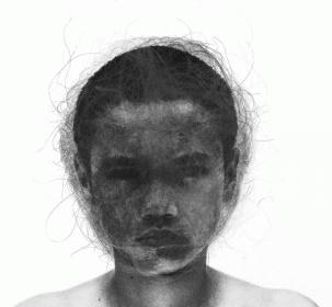 [Clin d'art #170] «Sleepwalker 1». 2014. Claudia Bernal. Estampe et impression digitale. 84 x 107 cm18 $ par mois pour un particulier (taxes incluses). © L'Artothèque. Tous droits réservés.