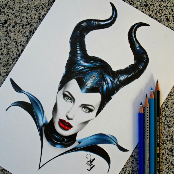 Maleficent Pencil Drawing