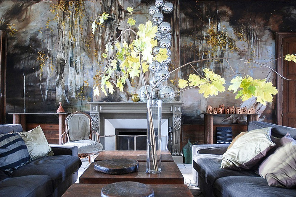 French artist Claire Basler in her home Chteau de