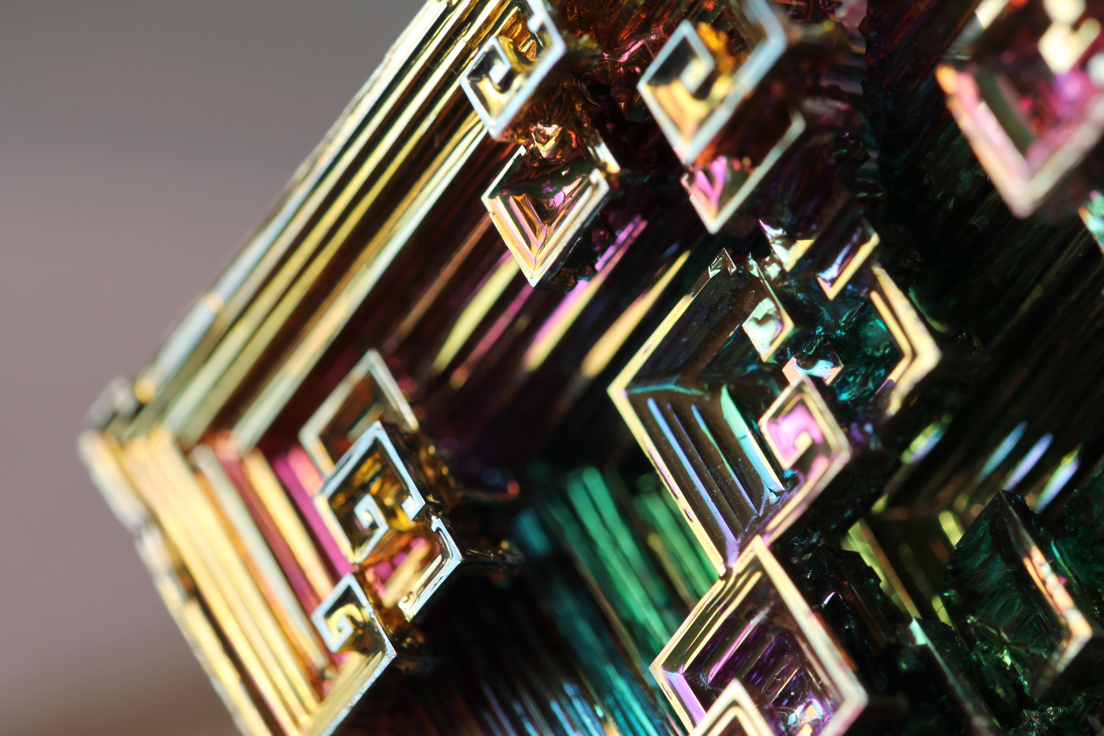 Macro Photography of Bismuth Crystal  Art People Gallery