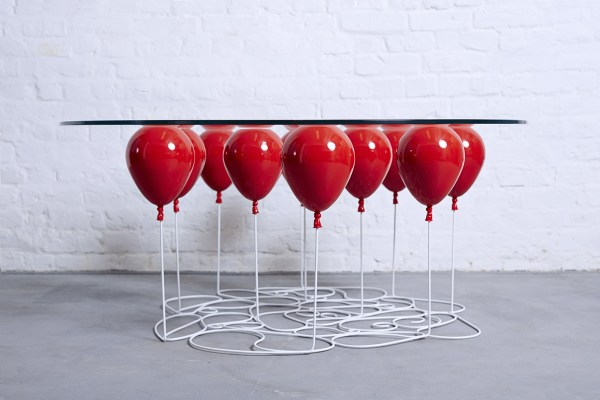 Helium Balloons Hold Table - Art People