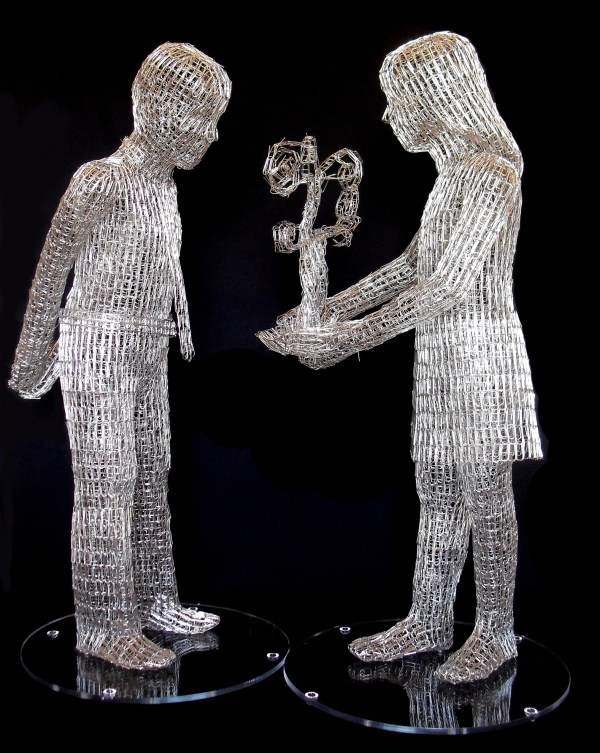 Paper Clip Sculptures Pietro Angelo - Art People