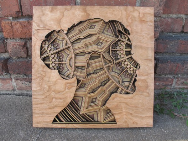 Laser-cut Wood Relief Sculptures Gabriel Schama - Art People