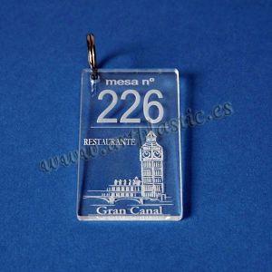 llaveros rectangulares personalizados