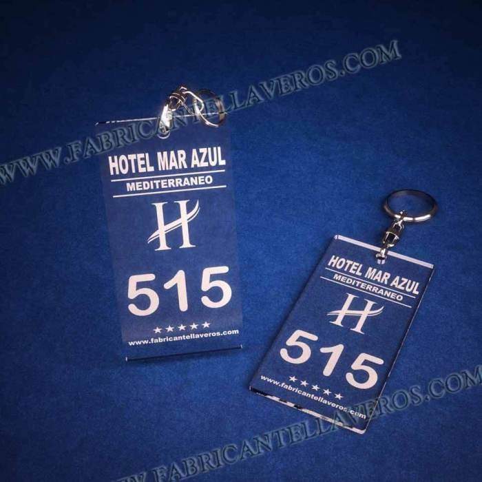 llaveros personalizados baratos grabados para hoteles 100x60
